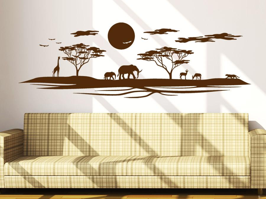 Wandtattoo Afrikanische Landschaft Afrika von Wandtattoo.de
