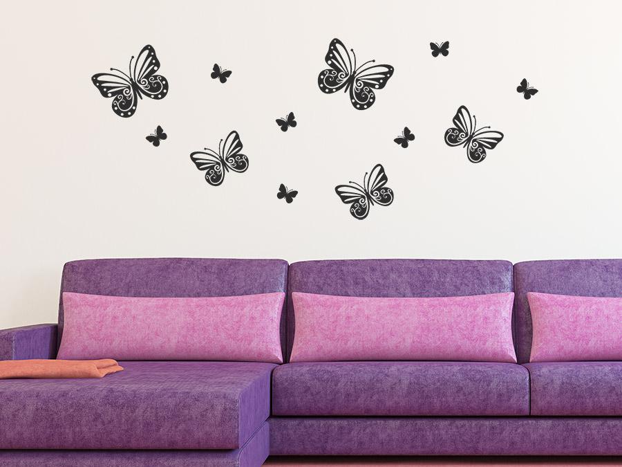 blumen in flowerpix raupen und schmetterlinge f rs fenster. Black Bedroom Furniture Sets. Home Design Ideas
