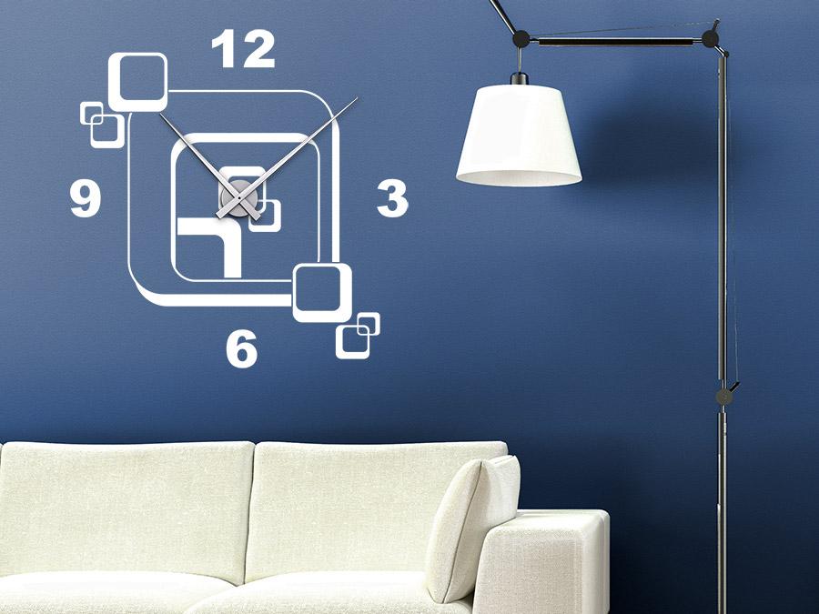 wandtattoo uhr retro cubes wanduhr wandtattoo de. Black Bedroom Furniture Sets. Home Design Ideas