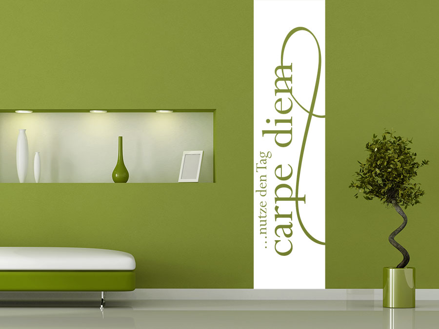 wandtattoo banner carpe diem wandbanner xxl wandtattoo de. Black Bedroom Furniture Sets. Home Design Ideas