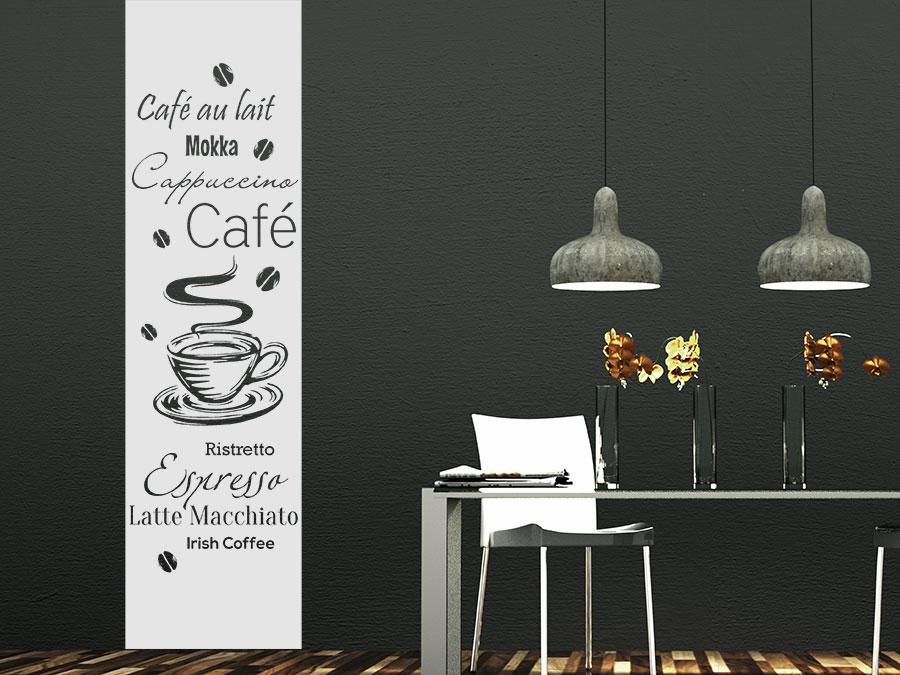 Wandtattoo kaffee banner kaffeesorten wandtattoo de for Wandtattoo banner