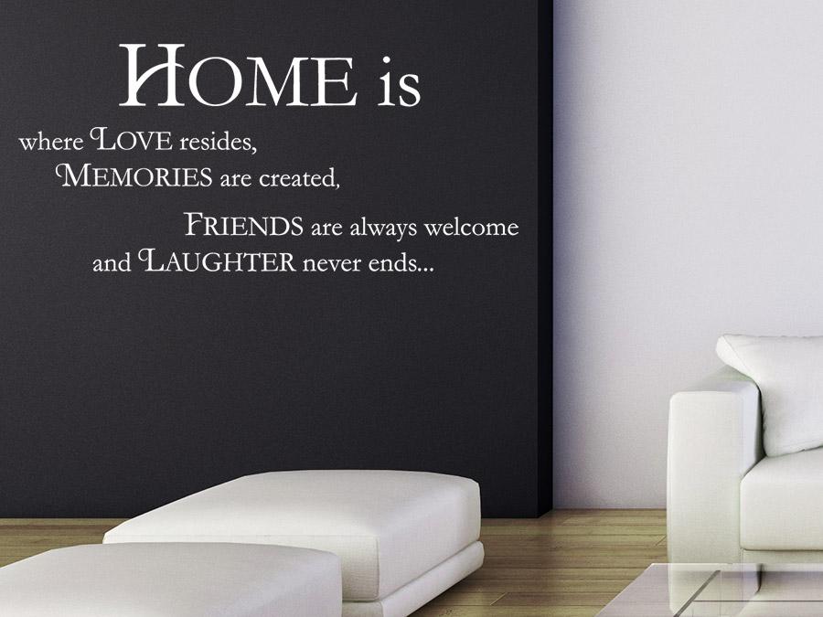 Wandtattoo home is sprichwort von for Jugendzimmer englisch