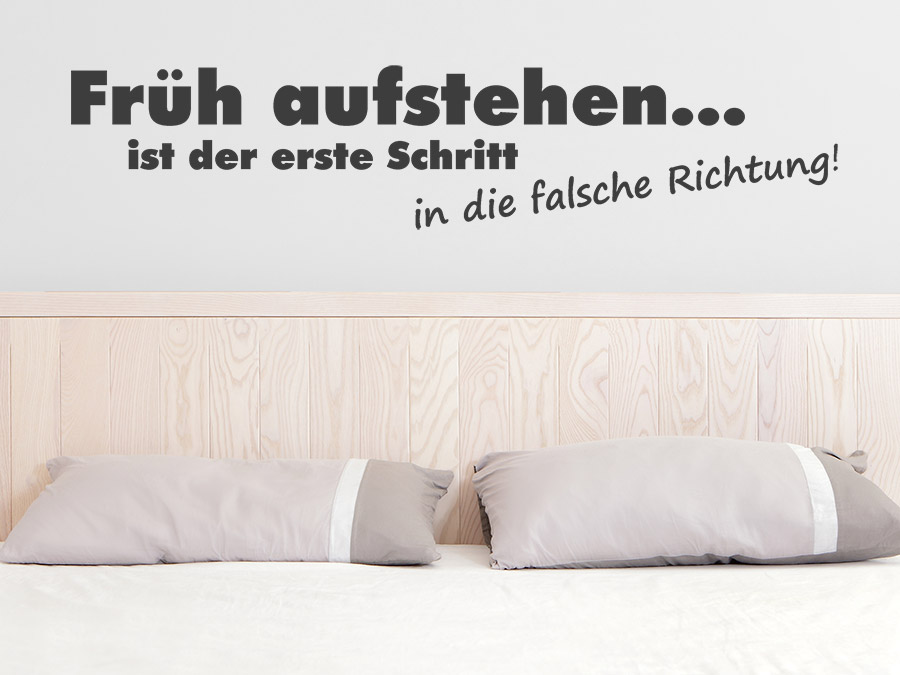 Wandtattoo Früh aufstehen ist der erste Schritt bei Homesticker.de