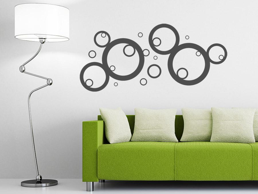 wandtattoo stylische kreise ornament wandtattoo de. Black Bedroom Furniture Sets. Home Design Ideas