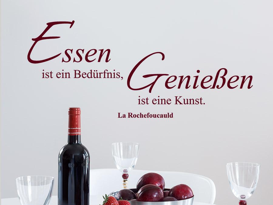 Wandtattoo Essen Und Geniessen Zitat Wandtattoo De