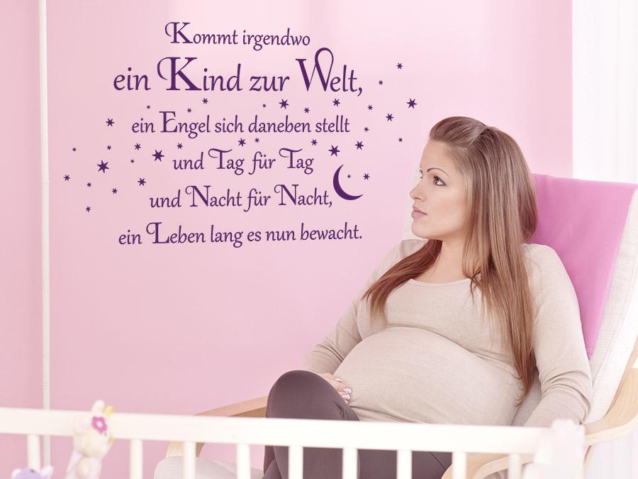 Wandtattoo Kommt irgendwo ein Kind zur Welt | WANDTATTOO.DE