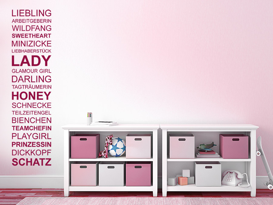 wandtattoo m dchen spruchband f r teenager wandtattoo de. Black Bedroom Furniture Sets. Home Design Ideas