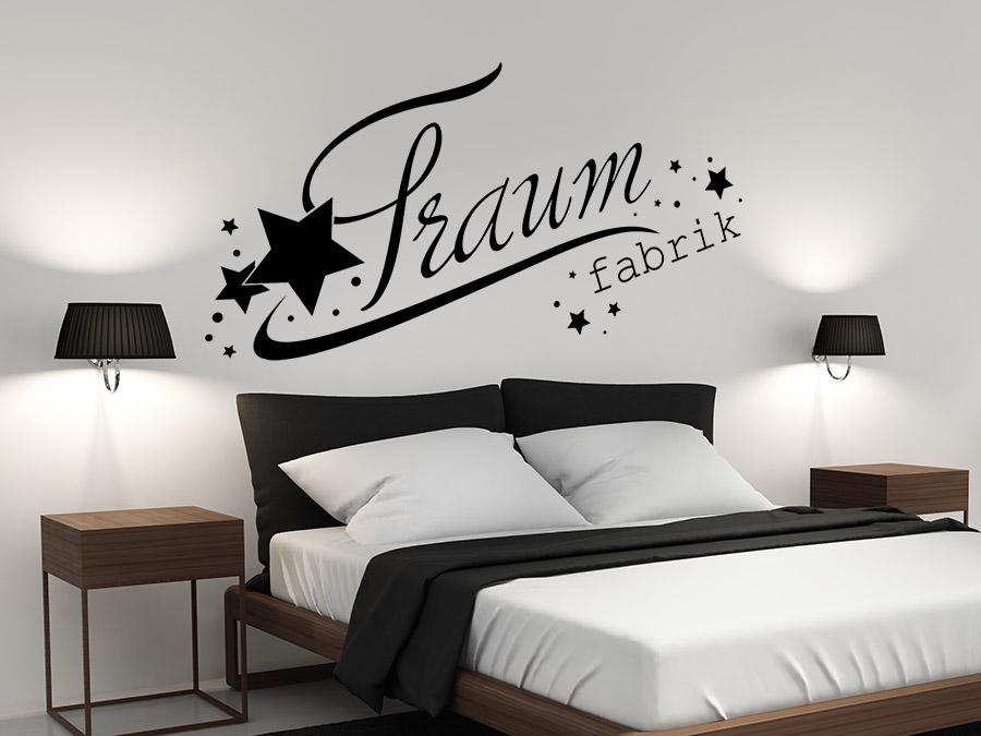 wandtattoo traumfabrik mit sternen bei. Black Bedroom Furniture Sets. Home Design Ideas