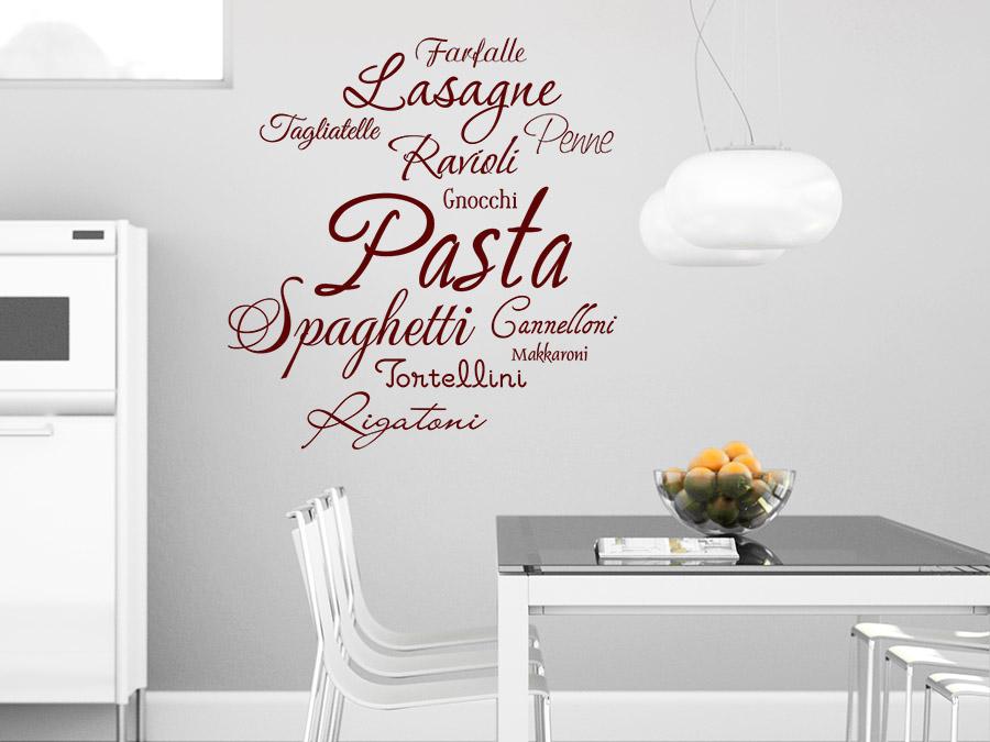 Wandtattoo Pasta Sorten - Italienisch essen | WANDTATTOO.DE