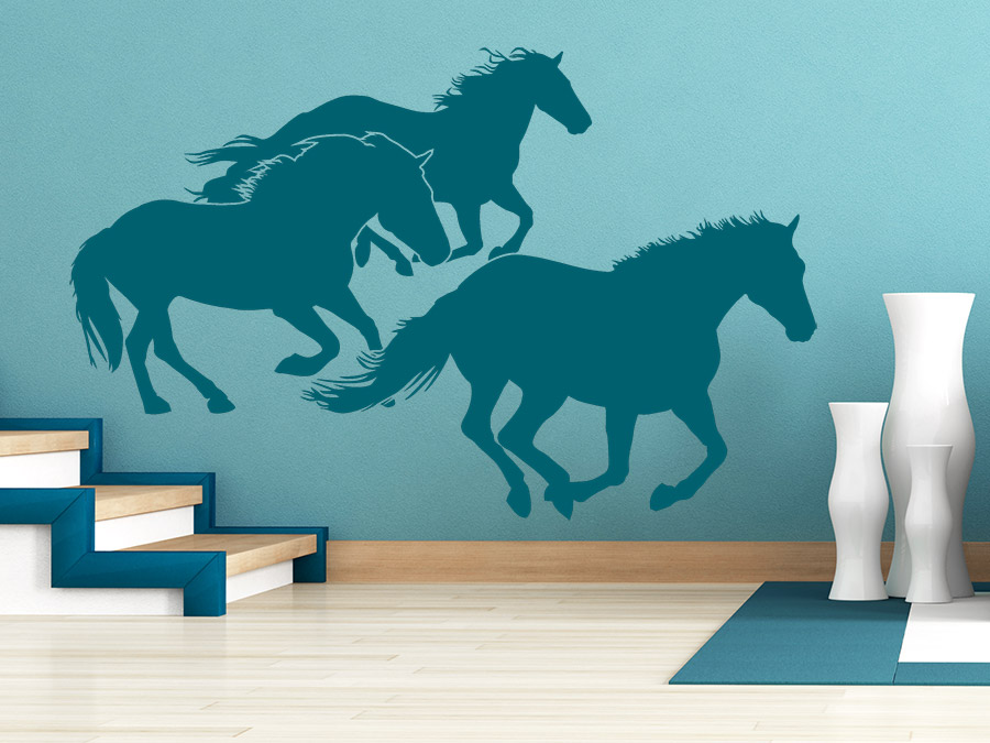 wandtattoo wilde pferde im galopp wandtattoo de. Black Bedroom Furniture Sets. Home Design Ideas