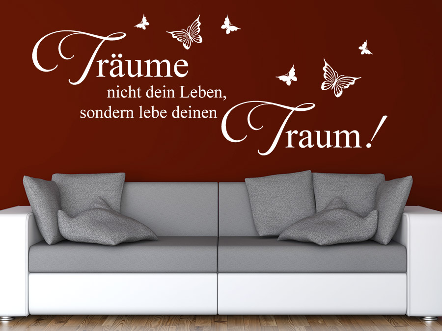 wandtattoo tr ume nicht spruch von. Black Bedroom Furniture Sets. Home Design Ideas