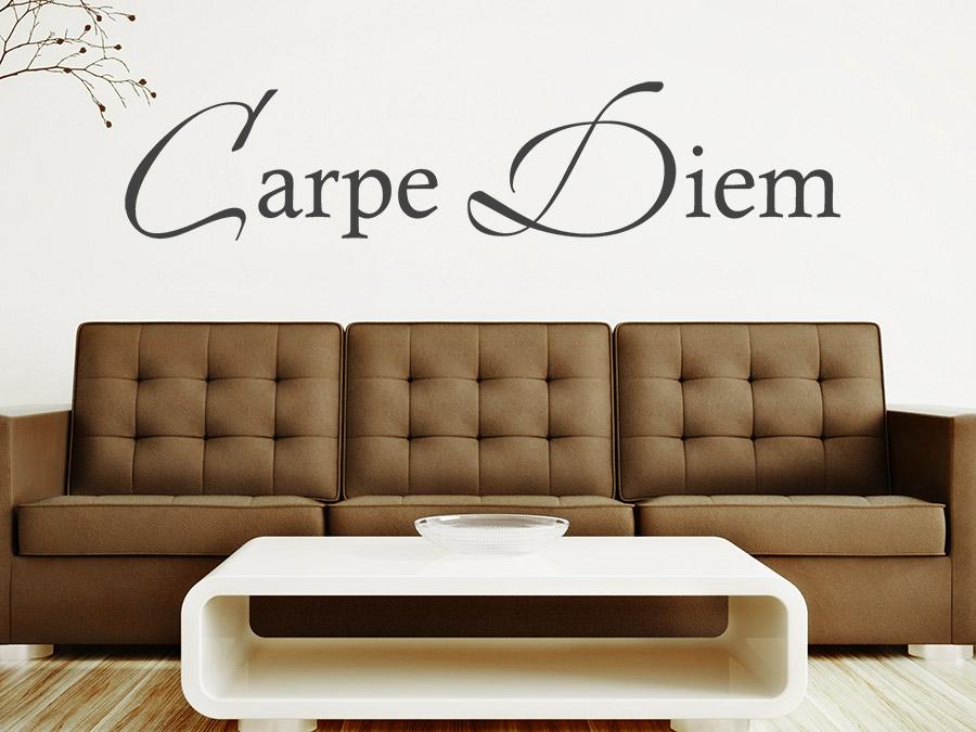 wandtattoo schriftzug carpe diem bei. Black Bedroom Furniture Sets. Home Design Ideas