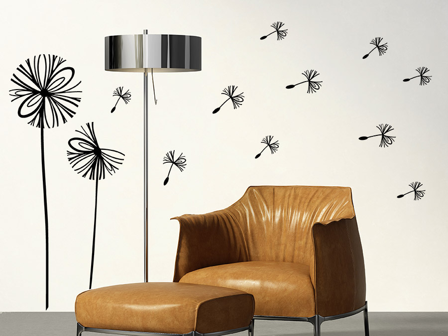 Wandtattoo moderne pusteblume von - Moderne wandtattoos ...