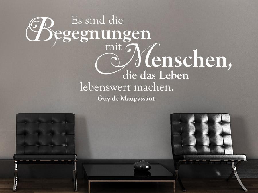 Wandtattoo Zitat bei Wandtattoo.de - schöne Zitate als Wandtattoos