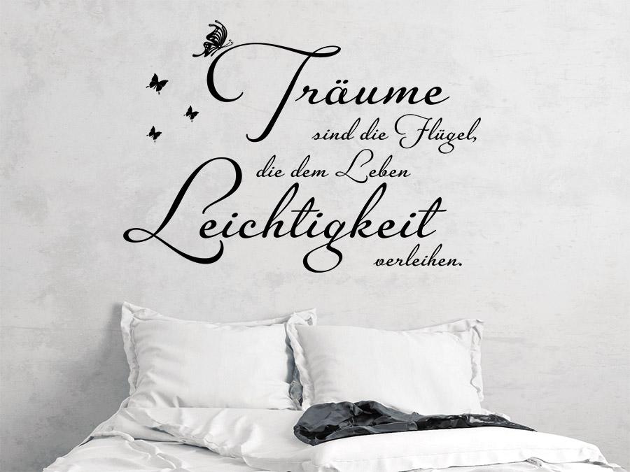 Träume Sind... Wandtattoo Spruch Im Schlafzimmer ...