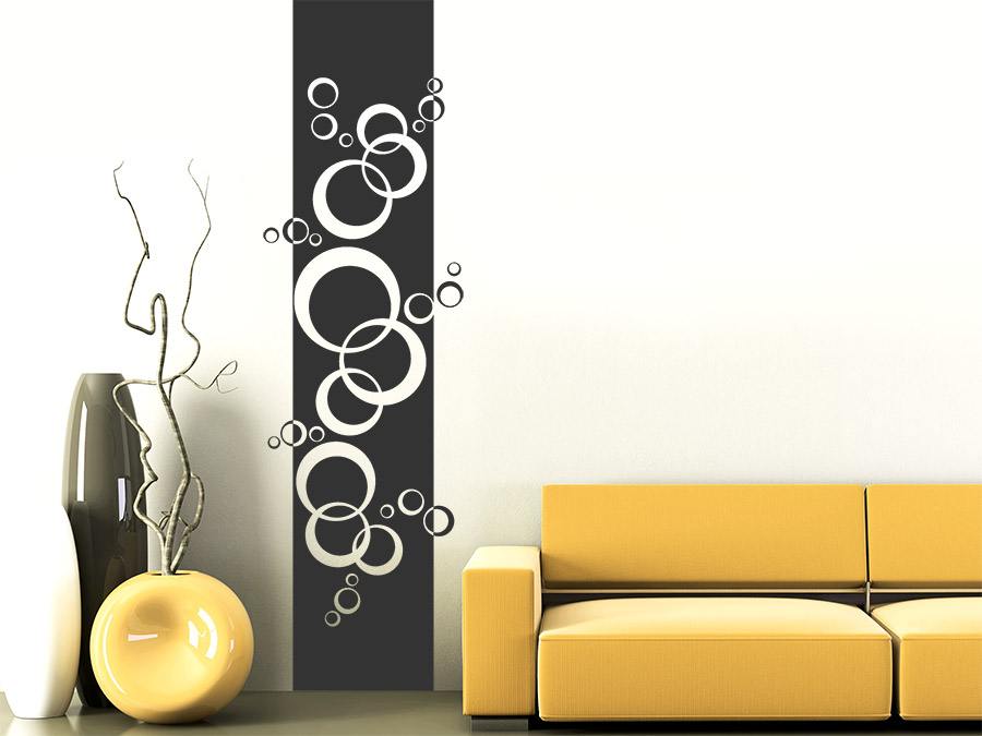 wandtattoo banner retro kreise wandbanner wandtattoo de. Black Bedroom Furniture Sets. Home Design Ideas