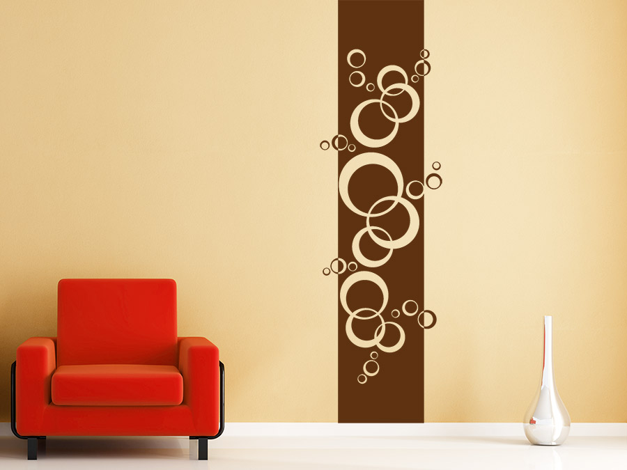 wandtattoo banner retro kreise von. Black Bedroom Furniture Sets. Home Design Ideas