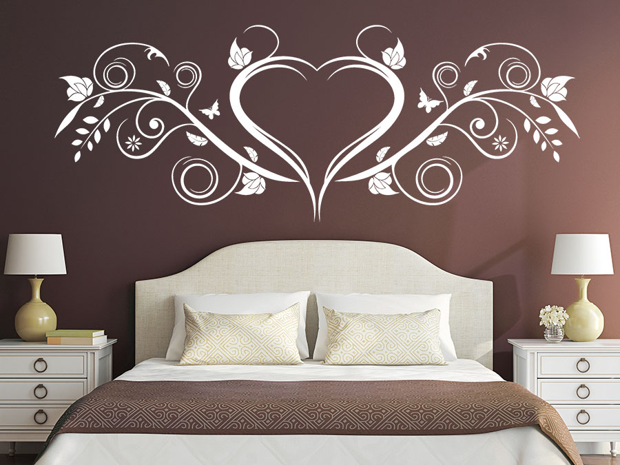 wandtattoo herz ornament verschn rkelt wandtattoo de. Black Bedroom Furniture Sets. Home Design Ideas