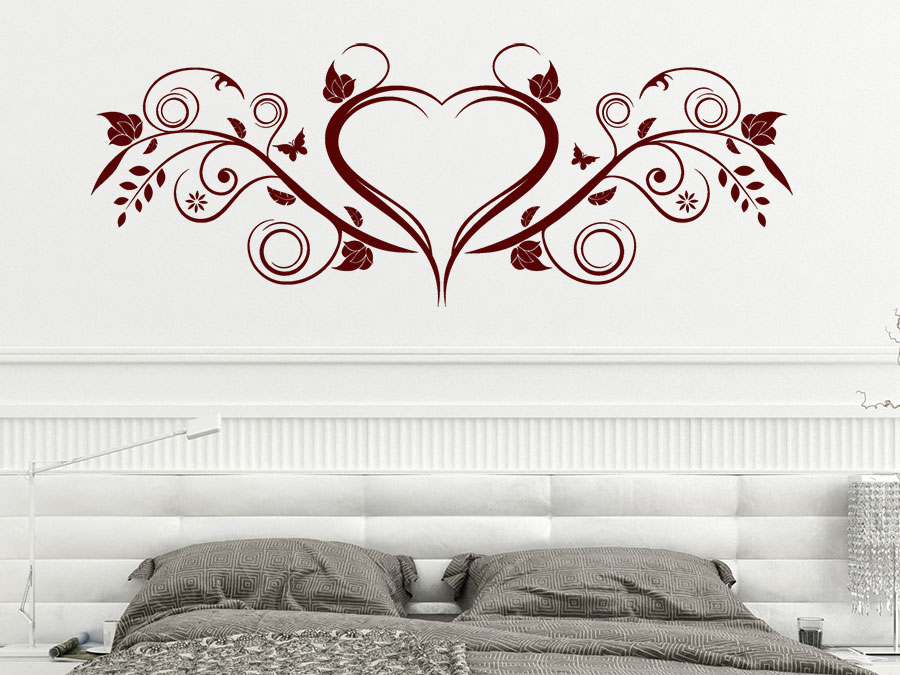 wandtattoo herz ornament von. Black Bedroom Furniture Sets. Home Design Ideas