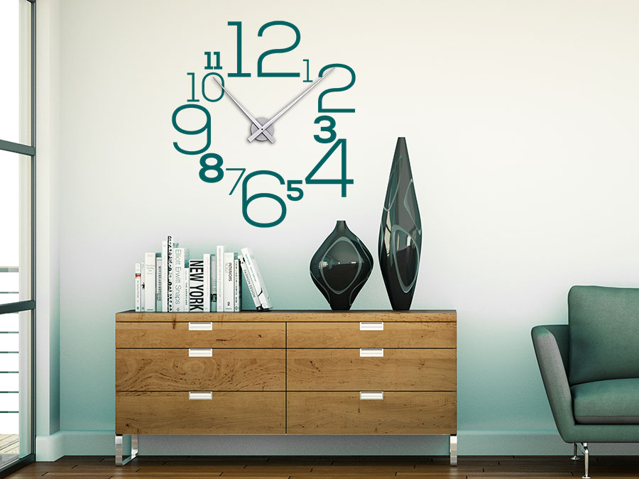 wandtattoo uhr gro e zahlen wanduhr wandtattoo de. Black Bedroom Furniture Sets. Home Design Ideas