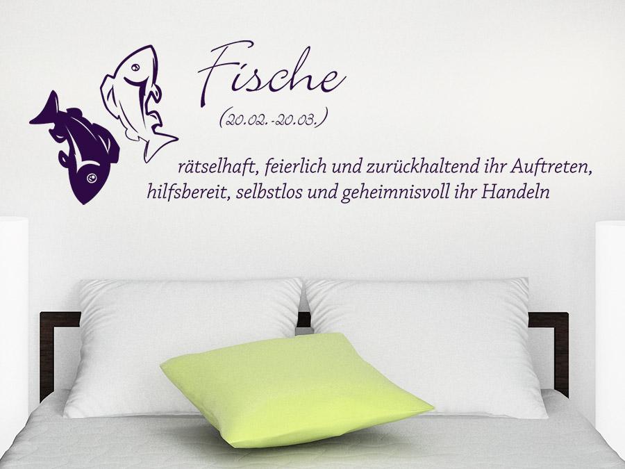Wandtattoo Sternzeichen Fische | WANDTATTOO.DE