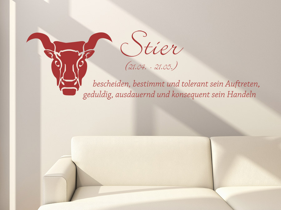 wandtattoo sternzeichen stier wandtattoo de. Black Bedroom Furniture Sets. Home Design Ideas