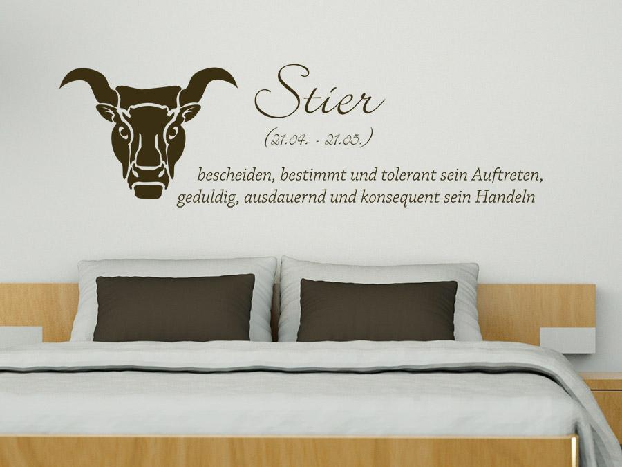 wandtattoo sternzeichen stier wandtattoo de. Black Bedroom Furniture Sets. Home Design Ideas