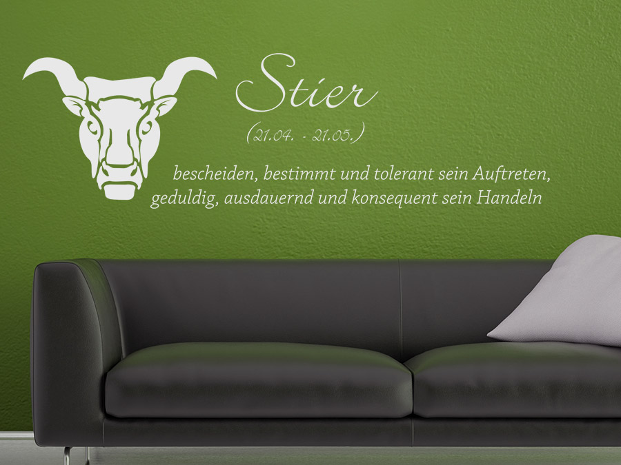 wandtattoo sternzeichen stier sternzeichen von. Black Bedroom Furniture Sets. Home Design Ideas