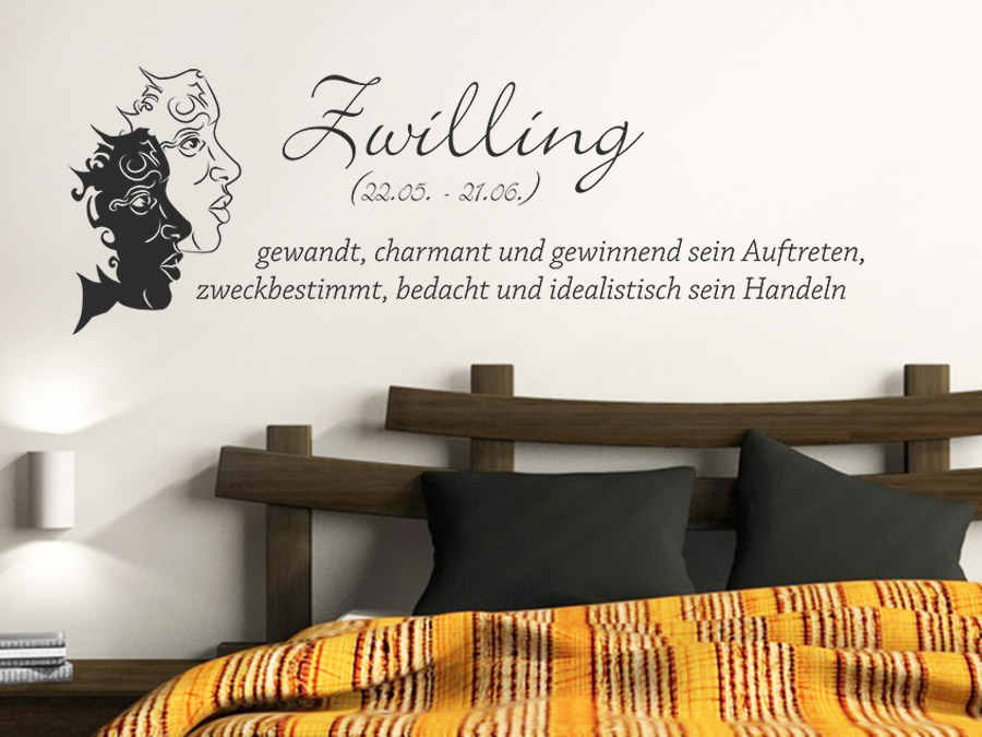 wandtattoo sternzeichen zwillinge wandtattoo de. Black Bedroom Furniture Sets. Home Design Ideas