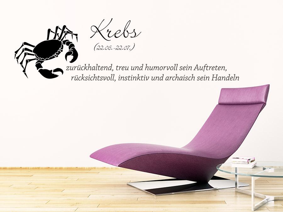 wandtattoo sternzeichen krebs wandtattoo de. Black Bedroom Furniture Sets. Home Design Ideas