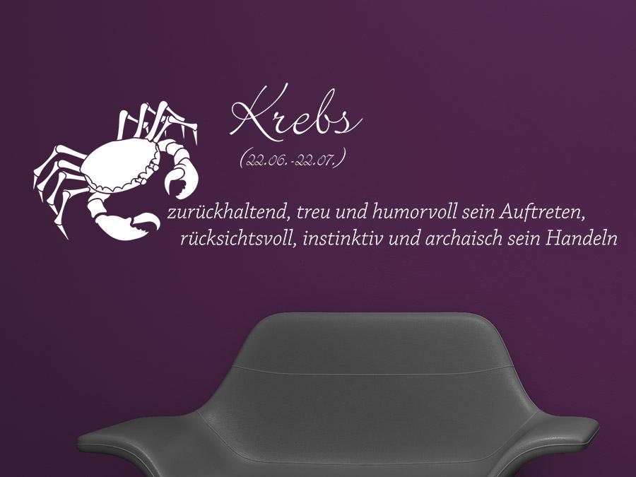 wandtattoo sternzeichen krebs sternzeichen von. Black Bedroom Furniture Sets. Home Design Ideas