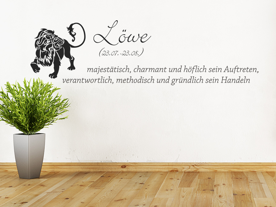 wandtattoo sternzeichen l we sternzeichen von. Black Bedroom Furniture Sets. Home Design Ideas