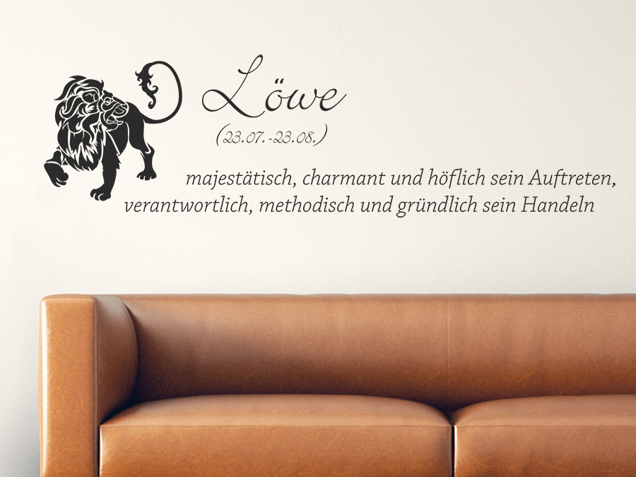 wandtattoo sternzeichen l we reuniecollegenoetsele. Black Bedroom Furniture Sets. Home Design Ideas