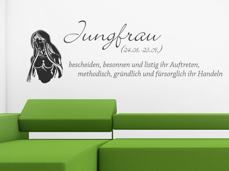 wandtattoo sternzeichen jungfrau sternzeichen von. Black Bedroom Furniture Sets. Home Design Ideas