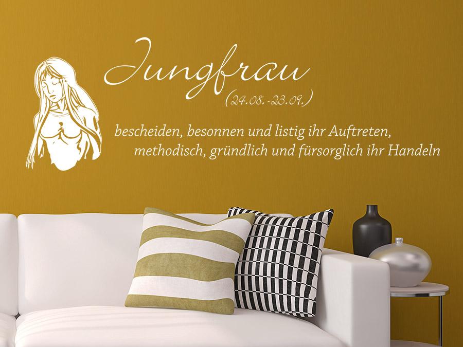 wandtattoo sternzeichen jungfrau wandtattoo de. Black Bedroom Furniture Sets. Home Design Ideas