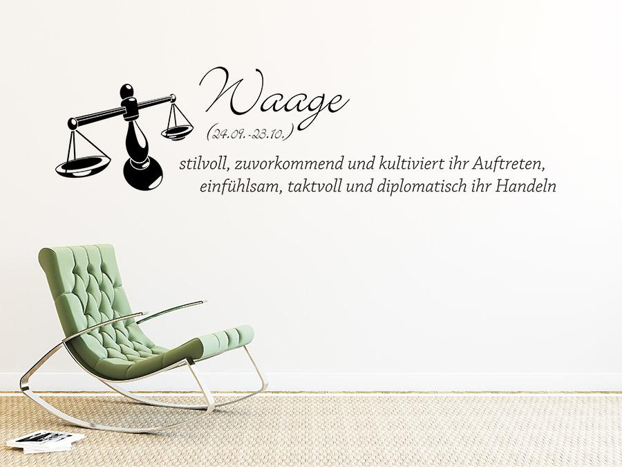 wandtattoo sternzeichen waage sternzeichen von. Black Bedroom Furniture Sets. Home Design Ideas