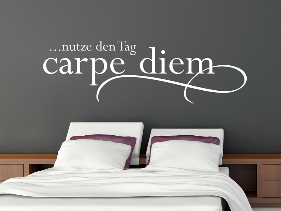 wandtattoo carpe diem nutze den tag wandtattoo de. Black Bedroom Furniture Sets. Home Design Ideas