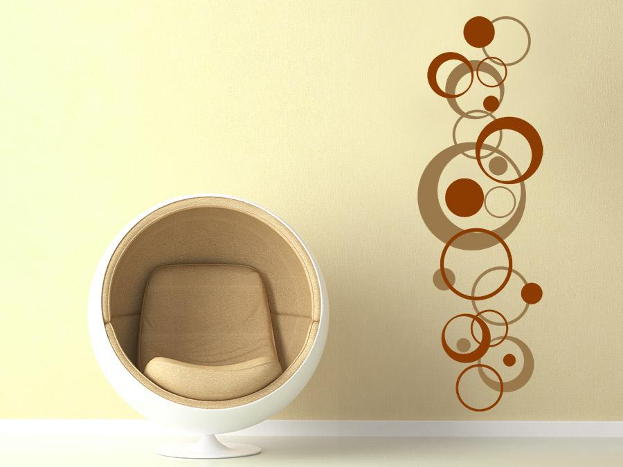 ... Retro Wandtattoo Mit Design Kreisen Als Zweifarbige Wanddeko