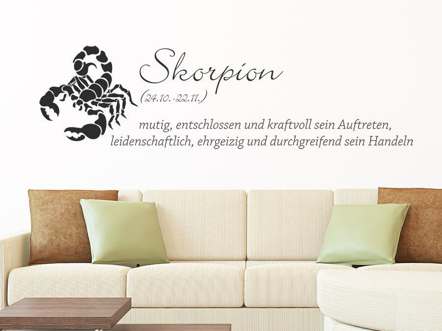wandtattoo sternzeichen skorpion sternzeichen von. Black Bedroom Furniture Sets. Home Design Ideas