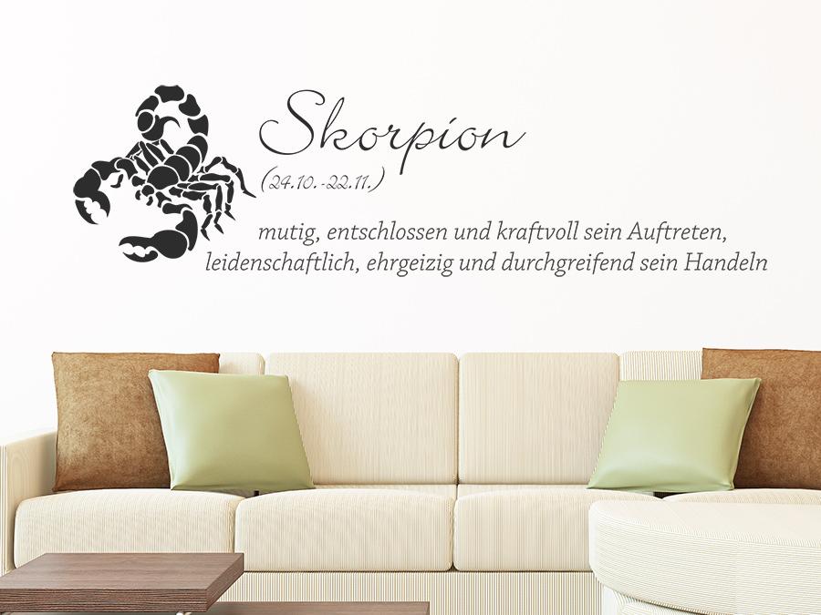 wandtattoo sternzeichen skorpion wandtattoo de. Black Bedroom Furniture Sets. Home Design Ideas