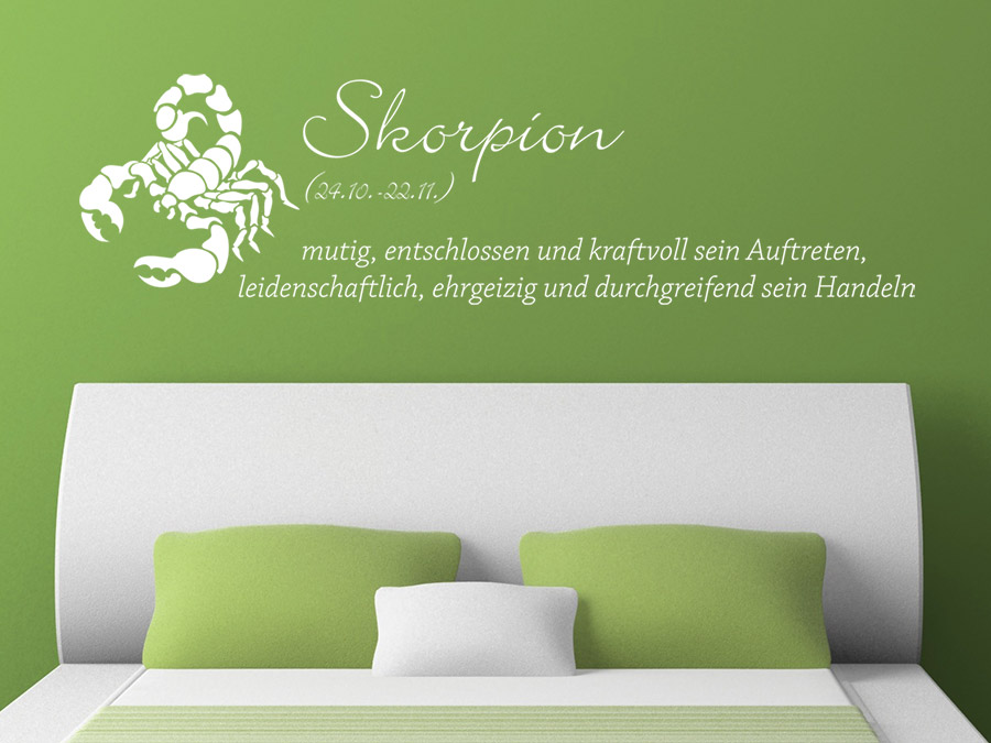 wandtattoo sternzeichen skorpion wandtattoo de. Black Bedroom Furniture Sets. Home Design Ideas