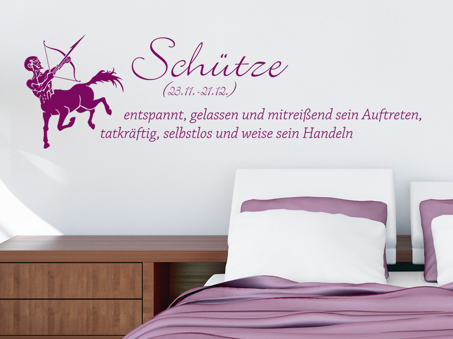 wandtattoo sternzeichen sch tze sternzeichen von. Black Bedroom Furniture Sets. Home Design Ideas