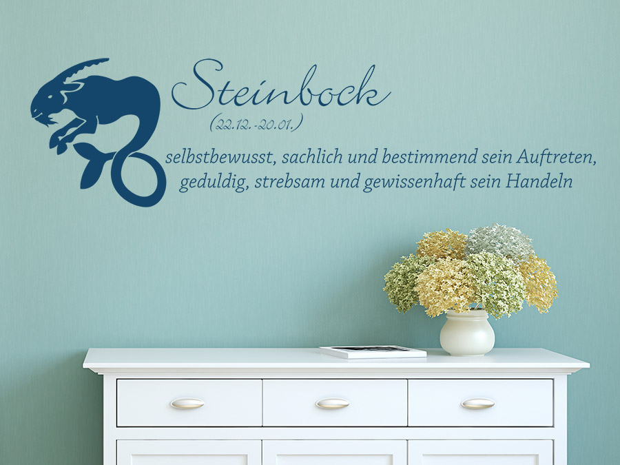 wandtattoo sternzeichen steinbock sternzeichen von. Black Bedroom Furniture Sets. Home Design Ideas