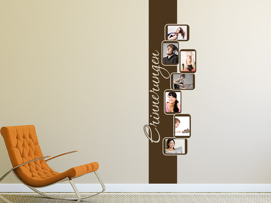 wandtattoo retrobanner f r fotos bei. Black Bedroom Furniture Sets. Home Design Ideas