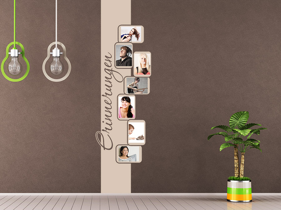 wandtattoo foto banner mit fotorahmen wandtattoo de. Black Bedroom Furniture Sets. Home Design Ideas