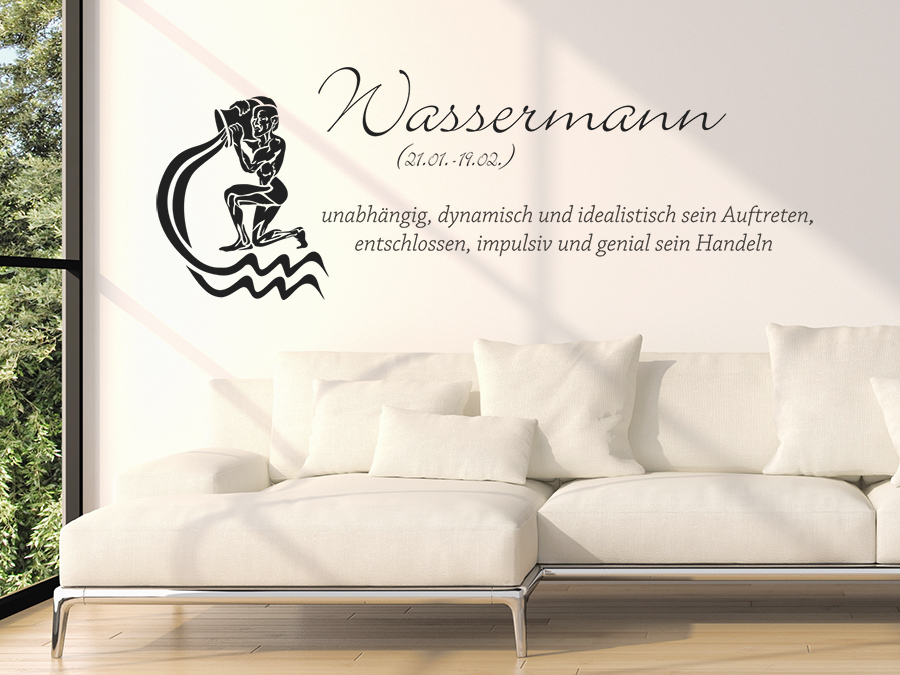 wandtattoo sternzeichen wassermann sternzeichen von. Black Bedroom Furniture Sets. Home Design Ideas