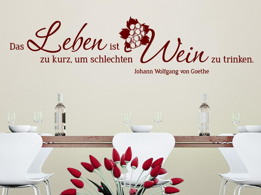 Wandtattoo Leben Und Wein