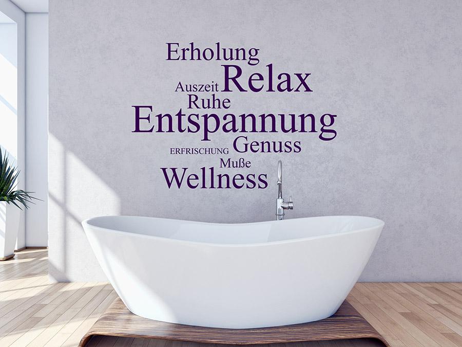 Wandtattoo worte relax genuss wellness - Wandtattoo relax ...