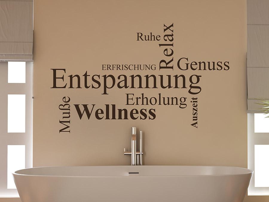Sprüche entspannung wellness  Wandtattoo Wortwolke Entspannung | WANDTATTOO.DE