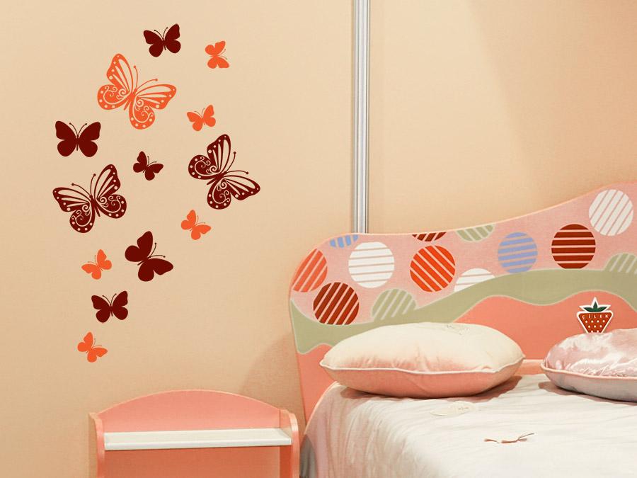 Kinderzimmer wandgestaltung schmetterling  Wandtattoo Traumhafte Schmetterlinge | WANDTATTOO.DE